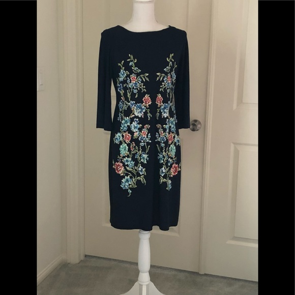Shelby & Palmer Dresses & Skirts - Ladies Navy blue with floral print dress